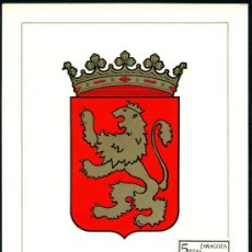 Sellos: POSTAL – ESCUDO DE ZARAGOZA 1966. Lote 159105089