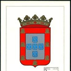 Sellos: POSTAL – ESCUDO DE CEUTA 1966. Lote 65002342