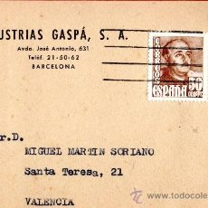 Sellos: TARJETA POSTAL INDUSTRIAS GASPA S.A.BARCELONA . Lote 33451135