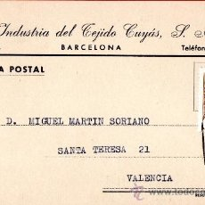 Sellos: TARJETA POSTAL INDUSTRIAS DEL TEJIDOS CUYAS S.A. BARCELONA . Lote 33451547