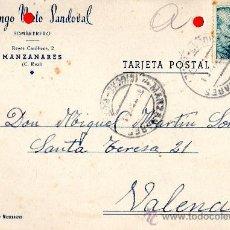 Sellos: TARJETA POSTAL DOMINGO NIETO SANDOVAL SOMBRERERO MANZANARES. Lote 33453080