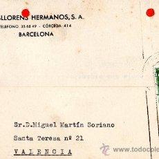 Sellos: TARJETA POSTAL MASLLORENS HERMANOS S.A. BARCELONA . Lote 33453142
