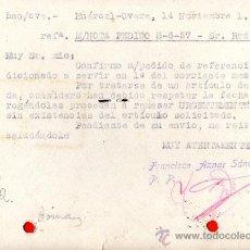 Sellos: TARJETA POSTAL GRAN BAZAR TEJIDOS FRANCISCO AZNAR SANCHEZ HUERCAL OVERA . Lote 33453422