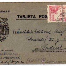 Timbres: TARJETA POSTAL. ARRIBA ESPAÑA. HERRERA DEL DUQUE BADAJOZ. 1941. Lote 33479602