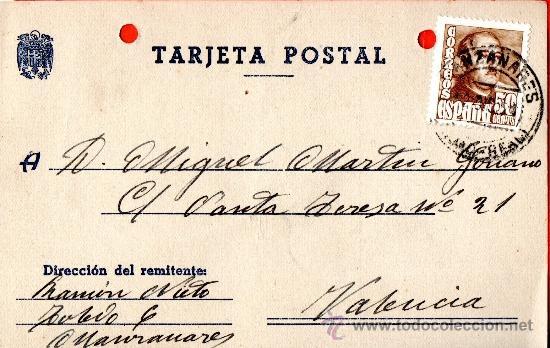 TARJETA POSTAL RAMON NIETO MANZANARES (Sellos - España - Tarjetas)