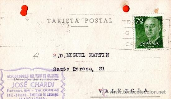 TARJETA POSTAL JOSE CHARDIN DESUDADORES DE VARIAS CLASES COLL BLANCA HOSPITALET DE LLOBREGAT (Sellos - España - Tarjetas)