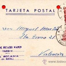 Sellos: TARJETA POSTAL HIJO DE NICASIO MARIN LA SOLANA . Lote 33569659