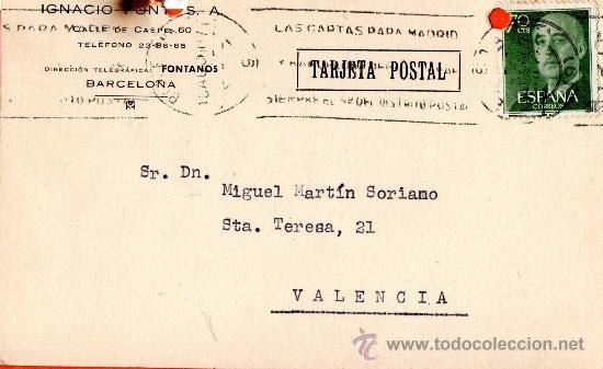 TARJETA POSTAL IGNACIO FONT S.A. (Sellos - España - Tarjetas)