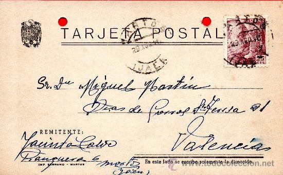TARJETA POSTAL JACINTO MORTOS (Sellos - España - Tarjetas)