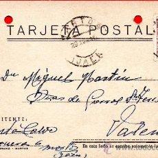Sellos: TARJETA POSTAL JACINTO MORTOS . Lote 33569739