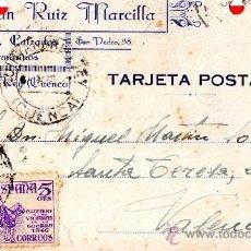 Sellos: TARJETA POSTAL JULIAN RUIZ MARCILLA PAQUETERIA Y CALZADOS QUINTANAR DEL REY . Lote 33569756