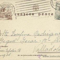 Sellos: RARISIMA TARJETA POSTAL FILATELICA UNICA DE BURGOS CON LA CARTUJA AÑO 1953. Lote 33637500