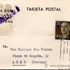 Sellos: TARJETA POSTAL J TRIAS GUELL BARCELONA . Lote 33813757