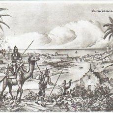 Sellos: ESTAMPAS DEL CORREO CORREO CANARIAS SIGLO XIX. BONITA TARJETA DIRECCION GENERAL DE CORREOS. MPM.. Lote 34364111