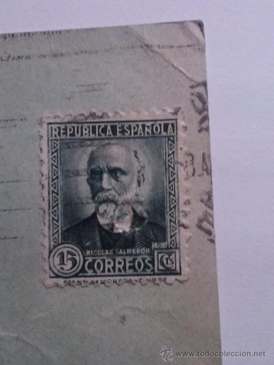 Sellos: TARJETA POSTAL FERROCARRILES MADRID A ZARAGOZA Y A ALICANTE. MZA 1932 - Foto 3 - 34690817