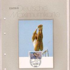 Sellos: DEUTSCHE MAXIMUMKARTEN KUNST UND TURMSPRINGEN MAXIMA ALEMANIA 1988. Lote 36385943