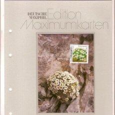 Sellos: DEUTSCHE MAXIMUMKARTEN NATUR UND UMWELTSCHUTZ SCHWEIZER MANNSSCHILD MAXIMA ALEMANIA 1991. Lote 36386113