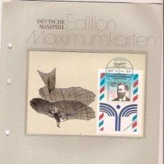 Sellos: DEUTSCHE MAXIMUMKARTEN OTTO LILIENTHAL MAXIMA ALEMANIA 1991. Lote 36386190