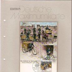 Sellos: DEUTSCHE MAXIMUMKARTEN TAG DER BRIEFMARKE 1987 MAXIMA ALEMANIA 1987. Lote 36386385