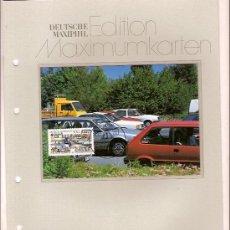 Sellos: DEUTSCHE MAXIMUMKARTEN VERKEHRSSICHERHEIT MAXIMA ALEMANIA 1991. Lote 36386485