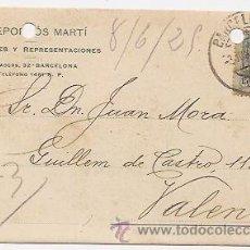 Sellos: BARCELONA. TARJETA COMERCIAL. Lote 37018655