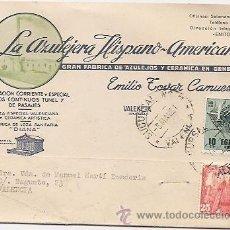 Sellos: VALENCIA: TARJETA COMERCIAL DE FÁBRICA DE AZULEJOS Y CERÁMICA. Lote 37018670