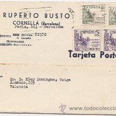 Sellos: CORNELLA. BARCELONA. TARJETA COMERCIAL. Lote 37018738