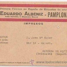 Sellos: PAMPLONA (NAVARRA). FÁBRICA DE ETIQUETAS DE ENVÍO. Lote 37173113