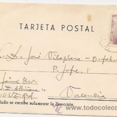 Sellos: TARJETA POSTAL CIRCULADA DESDE ENGUERA (VALENCIA). 1946. Lote 38611126