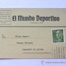 Sellos: TARJETA COMERCIAL / EL MUNDO DEPORTIVO / BARCELONA AÑO 1964. Lote 38703682