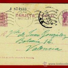 Sellos: TARJETA POSTAL, REPUBLICA , ZARAGOZA , 1935 , ORIGINAL , B15. Lote 38819383