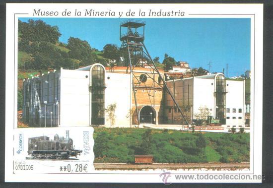 1 POSTAL CON ATMS ** LA PALAU ** MUSEO DE LA MINERIA EL ENTREGO ASTURIAS , 7 DIC. 2005 (Sellos - Extranjero - Tarjetas)