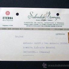 Sellos: TARJETA COMERCIAL / SIFONES SALVADOR TORROJA / BARCELONA AÑO 1956. Lote 39333286