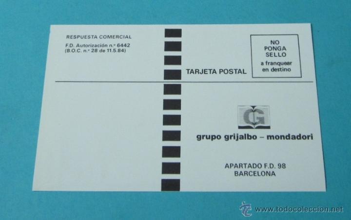TARJETA POSTAL A FRANQUEAR EN DESTINO GRUPO GRIJALBO - MONDADORI (Sellos - España - Tarjetas)