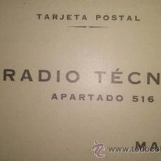 Sellos: TARJETA POSTAL DE LA REVISTA RADIO TECNICA CON PUBLICIDAD RADIO PHILIPS. Lote 39439528