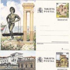 Sellos: ENTERO TARJETA POSTAL / ENTEROS POSTALES AÑO COMPLETO 1987 Nº EDIFIL 143 , 144 TURISMO. Lote 103638847