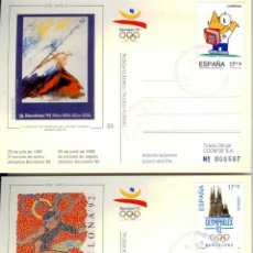 Timbres: TARJETAS POSTALES CARTELES OLÍMPICOS BARCELONA'92 - COBI GUINOVART ROLANDO. Lote 40265691