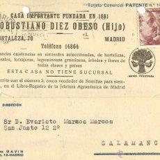 Sellos: TARJETA POSTAL CIRCULADA MADRID-SALAMANCA - 1946. Lote 40466666