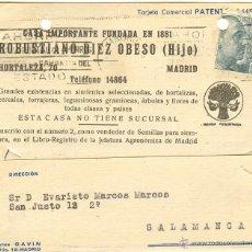 Sellos: TARJETA POSTAL CIRCULADA MADRID-SALAMANCA - 1946. Lote 40466759
