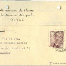 Sellos: TARJETA POSTAL CIRCULADA OVIEDO-SALAMANCA - 1946. Lote 40466857