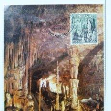 Sellos: TARJETA CUEVAS DEL DRACH. MATASELLO PALMA DE MALLORCA 1988.. Lote 40792484