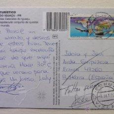 Sellos: TARJETA POSTAL CIRCULADA - BRASIL-ERMUA - CATARATAS DE IGUAZÚ - 2002. Lote 41387780