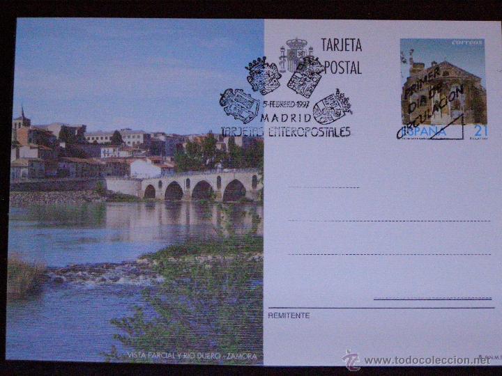 ESPAÑA -1997 - VISTA PARCIAL Y RIO DUERO - ZAMORA -EDIFIL 163- ENTERO POSTAL PRIMER DÍA CIRCULACIÓN (Sellos - España - Tarjetas)