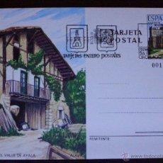 Sellos: ESPAÑA -1989 - CASERIO VALLE DE AYALA - ALAVA - EDIFIL 148 - ENTERO POSTAL PRIMER DÍA CIRCULACIÓN . Lote 41446450