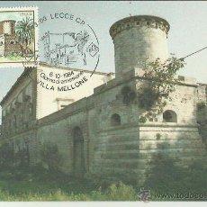 Sellos: TARJETA MÁXIMA. ITALIA. 1984. LECCE. GIORNO DI EMISSIONE. VILLA MELLONE.. Lote 41991545
