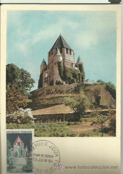 TARJETA MÁXIMA. FRANCIA. 1964. PRIMER DIA. LE TOUR DE CESAR. (Sellos - Extranjero - Tarjetas Máximas)