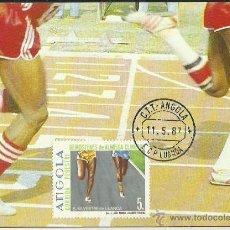 Sellos: TARJETA MÁXIMA. ANGOLA. LUANDA. 1987. . Lote 42068951