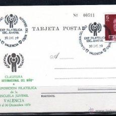 Sellos: TARJETA POSTAL EXP. DE VALENCIA DE 1979. Lote 42263726