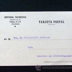 Sellos: TARJETA COMERCIAL / EDITORIAL VALENCIANA / AÑO 1960. Lote 42272029