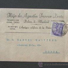 Sellos: TARJETA COMERCIAL / HIJO DE AGUSTIN FERRER PRATS - MADRID 1940. Lote 42374292